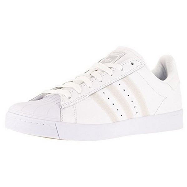 Adidas Mens Superstar Vulc Adv, Ftwwht,Ftwwht,Silvmt, 8