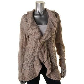 Karen Scott Womens Hook Closure Knit Cardigan Sweater - L
