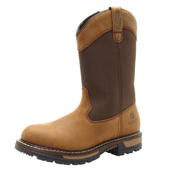 Rocky Outdoor Boots Mens Ride Waterproof Wellington Brown