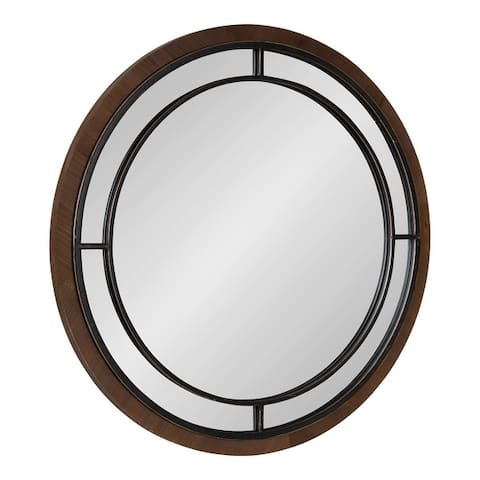 Kate and Laurel Audubon Round Framed Wall Mirror