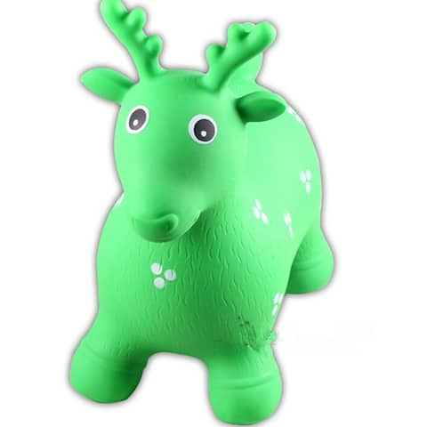 Little Fawn Hopper Ride-on Bouncer Toy Inflatable Toy Toddler Kids Chrismas gift - Green