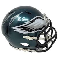 Lane Johnson Signed Philadelphia Eagles Mini Speed Helmet JSA ITP