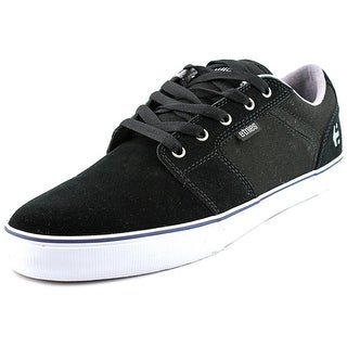 Etnies Barge LS Men Round Toe Canvas Black Skate Shoe