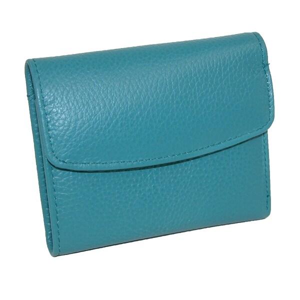 Buxton Women's Leather Mini Tri-Fold Wallet