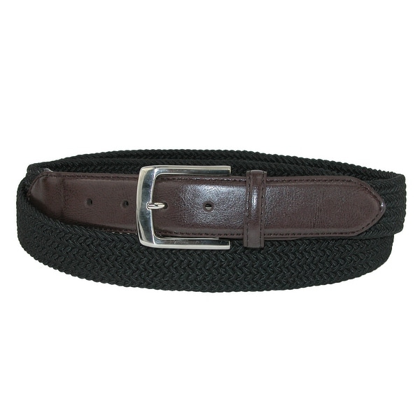 Aquarius Men's Big & Tall Elastic Braided Belt