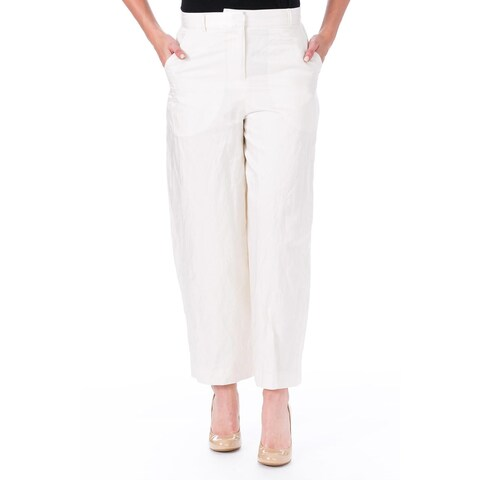 Elizabeth and James Womens Rumpled Ron Ankle Pants Cropped Work
