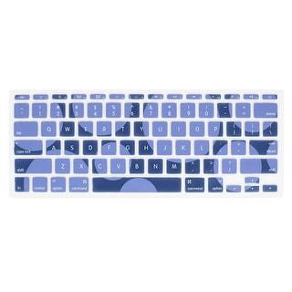 Unique Bargains Circle Pattern Soft Silicone Keyboard Film Skin Indigo Blue for MacBook Pro 11