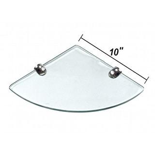"Link to Miseno MT-WHSSEC1010-CL 10"" Clear Glass Bathroom Shelf Similar Items in Bathroom Furniture"