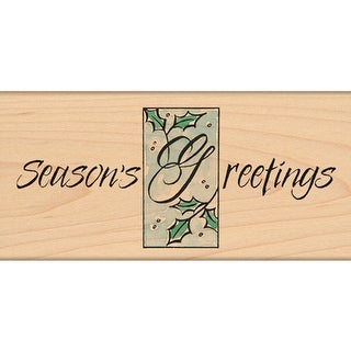 """Penny Black Mounted Rubber Stamp 2.5""""X5""""-Holly Greetings"""