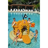 Solstice Inflatable Giant Floating Pirate Castle Swimming Pool Adventure Play Set Game - Yellow