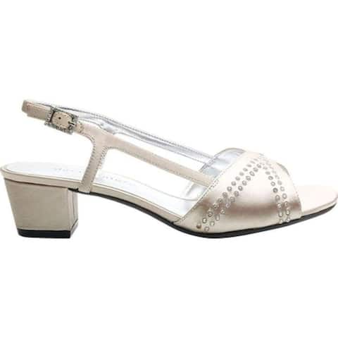 David Tate Womens Wish Satin Open Toe Special Occasion Slingback Sandals
