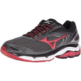 Mizuno Men's Wave Inspire 13 Running Shoe, Gunmetal/High Risk Red, 9.5 D US
