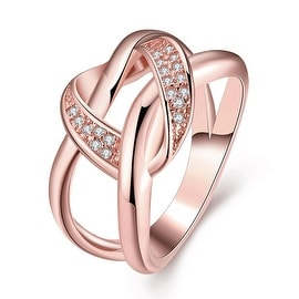 Twisted Modern Love Knot Rose Gold Ring