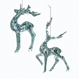 Pack of 12 Silver and Metallic Finished Decorative Reindeer Ornament 6.25