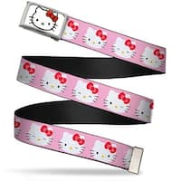 Hello Kitty Face Fcg White Bo Chrome Hello Kitty Expressions Pink Web Belt
