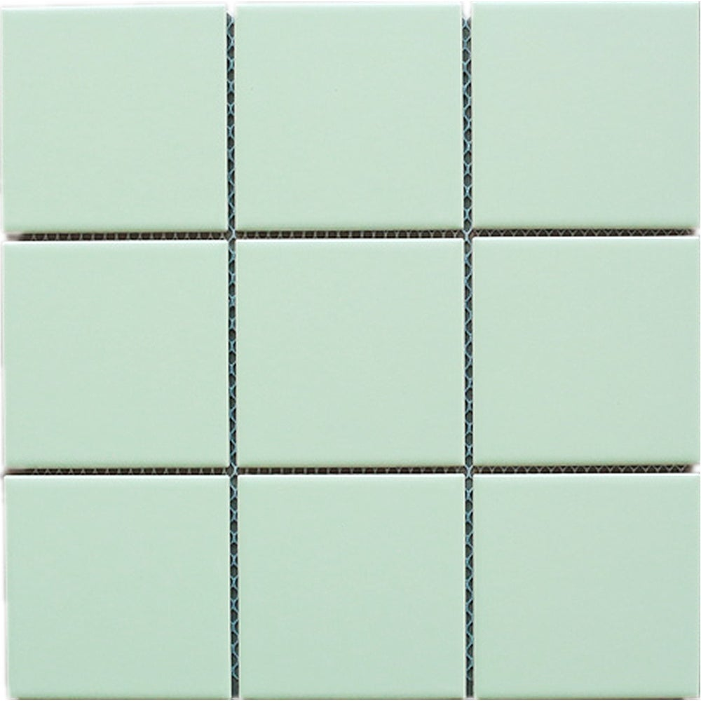 Tilegen 4 X Porcelain Mosaic Tile In Soft Green Floor And Wall 10 Sheets 78sqft
