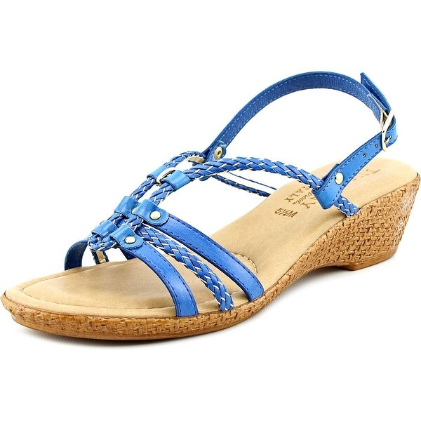 Easy Street Lucca N/S Open Toe Synthetic Wedge Sandal