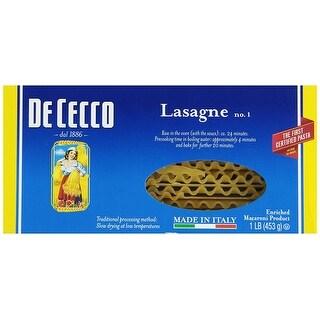 De Cecco Pasta Pasta - Lasagna - Larga - Case of 12 - 16 oz