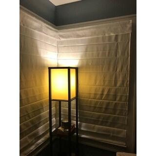 Arlo Blinds Cloud White Cordless Fabric Roman Light Filtering Shade