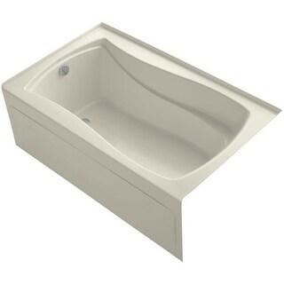 "Kohler K-1242-LA Mariposa Collection 60"" Three Wall Alcove Soaking Bath Tub with Left Hand Drain, Apron, Tile Flange and"