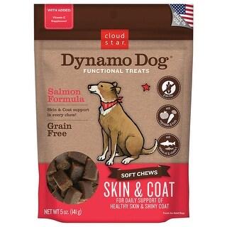 Cloud Star  Dynamo Dog Skin & Coat - Salmon 5 oz Functional Treats