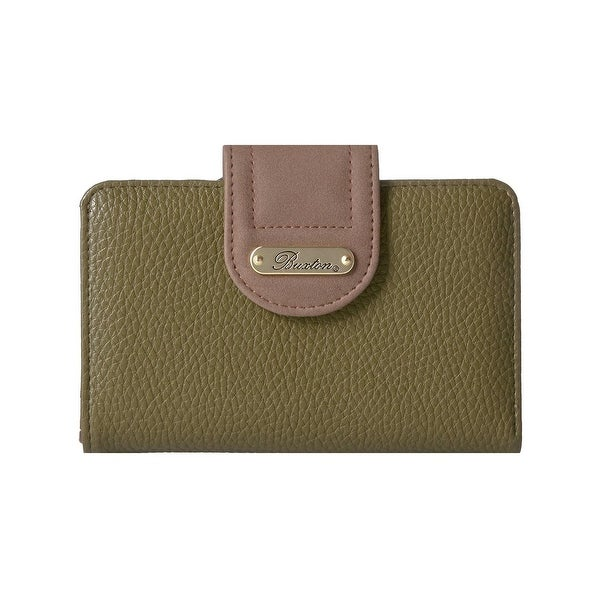 Buxton Womens Tab Wallet Colorblock Organizational - o/s