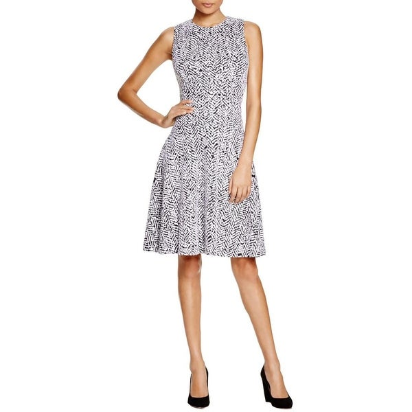Calvin Klein Womens Wear to Work Dress Sleeveless Fit & Flare