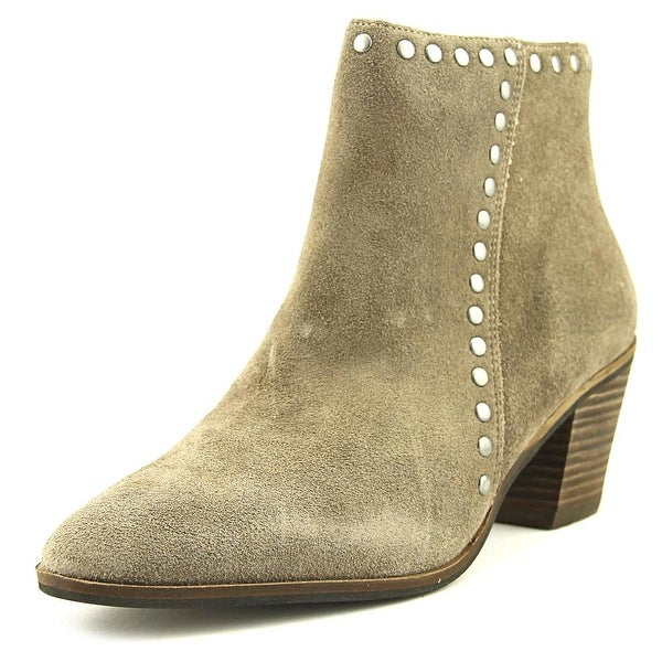 Lucky Brand Linnea Women Pointed Toe Suede Tan Bootie