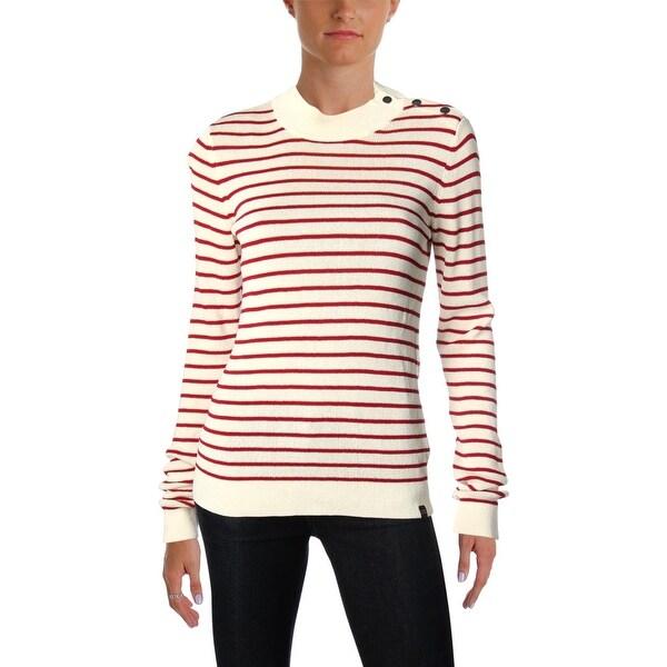 Scotch & Soda Womens Pullover Sweater Knit Striped