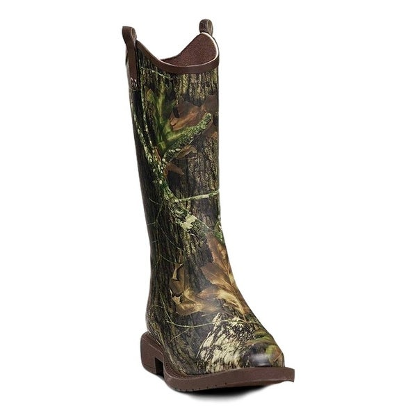 Double Barrel Western Outdoor Boots Mens Lance WP Rubber Camo