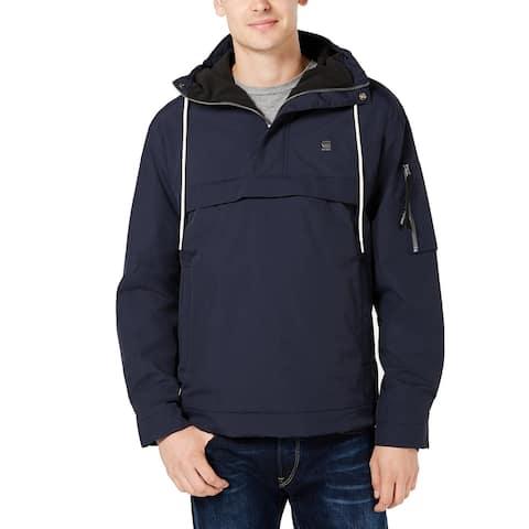 G-Star Raw Mens Jacket Navy Blue Size Small S Rackam Anorak Regular Fit