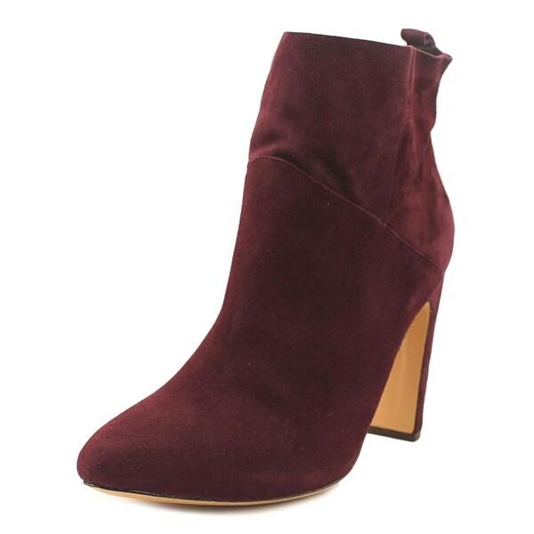 Rachel Zoe Elizabeth Women Pointed Toe Suede Burgundy Ankle Boot