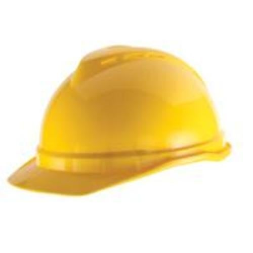 MSA Safety Works 10034020 Hard Hat Yellow Vented