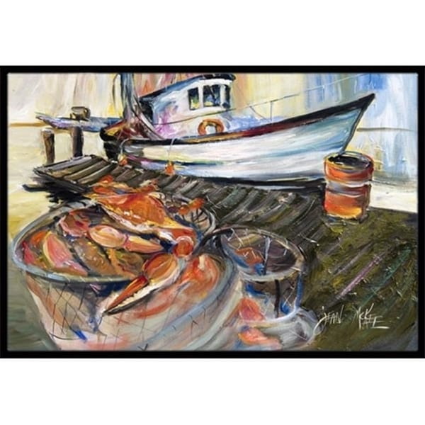 Carolines Treasures JMK1104JMAT Blue Crab Trap Indoor & Outdoor Mat 24 x 36 in.