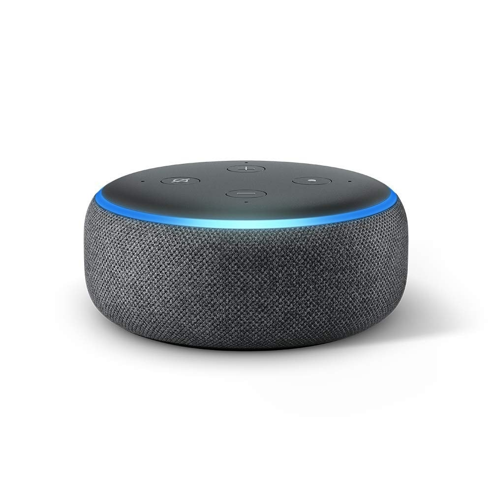 "Amazon Echo Dot 3rd Generation Smart Speaker with Alexa Charcoal - Black - 1.6"" (Black)"