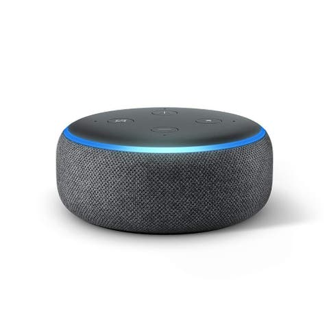 Amazon Echo Dot 3rd Generation Smart Speaker with Alexa Charcoal - Black - 1.6""