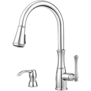 Pfister GT529-WH1 Wheaton 1.8 GPM Pull-Down Kitchen Faucet with Escutcheon Plate