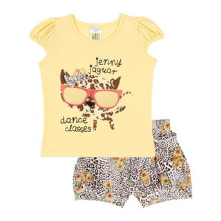 Baby Girl Set Graphic T-Shirt and Shorts Outfit Infant Pulla Bulla 3-12 Months (2 options available)