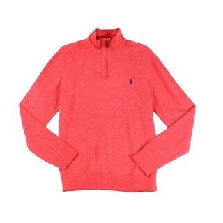 Polo Ralph Lauren NEW Rose Heather Red Mens Size XL 1/2 Zip Sweater