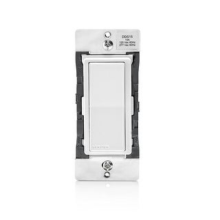 Leviton DDS15-BDZ 15 Amp Dual Voltage 120/277VAC Decora Digital Switch and Timer - White