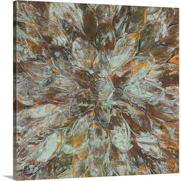 """Oxidized Petals II"" Canvas Wall Art"