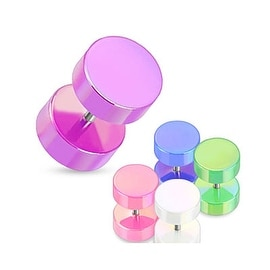 Pearl Coated All Acrylic Fake Plug (Sold Individually)