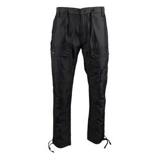 Sean John Men's Dobby Flight Cargo Pants - Black