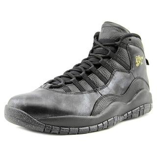 Jordan Air Jordan Retro 10 Men Round Toe Synthetic Black Basketball Shoe