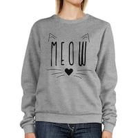 Meow Sweatshirt Cute Back To School Pullover Fleece Sweater