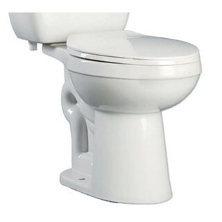 ProFlo PF9800 Ultra High Efficiency 0.8 Two-Piece Round ADA Height Toilet Bowl - Less Seat