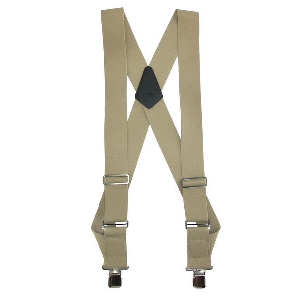 CTM® Men's Big & Tall Elastic Basic Trucker Side Clip Suspender - One size