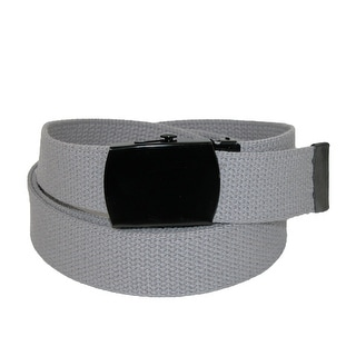 CTM® Fabric Big & Tall Adjustable Belt with Black Buckle - One size