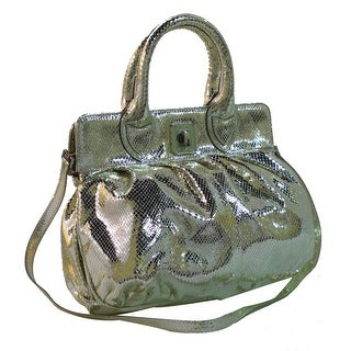 Secret Pon-Pon SPP 102S09C15 240 Gold Metallic Satchel/ Messenger Bag