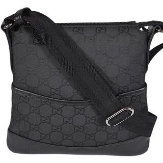 Gucci 374416 MINI Black Nylon GG Guccissima Crossbody Day Purse Bag